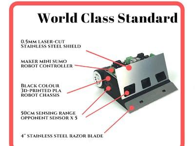 Ikedo Mini Sumo Robot Pro