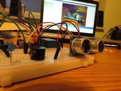 Arduino Alarm with Ultrasonic Sensor