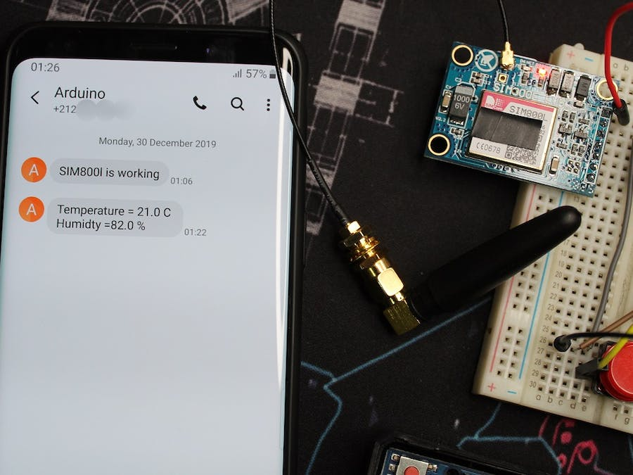 Send SMS/Text From Arduino Using SIM800L GSM/GPRS Module