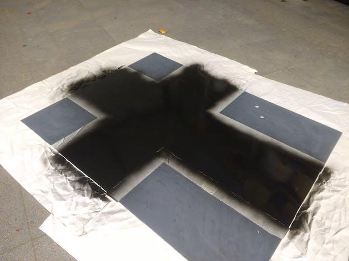 """Spray painting the """"asphalt"""""""