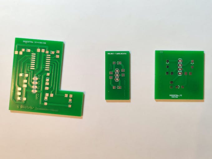 PCBs of the traffic lights