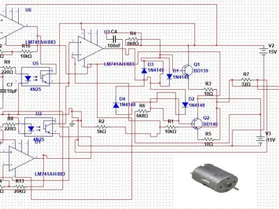 Control speed and direction of a dc motor without h-bridge