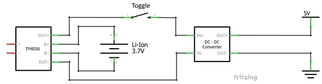 Fig. 6 – Basic circuit of power supply system