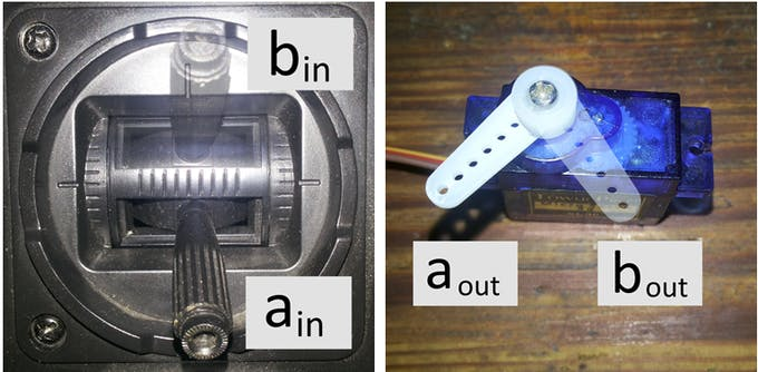 Fig. 21 – End points of stick and servo