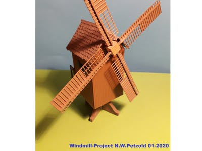 "Pimp up a model-railways ""wind-mill"""