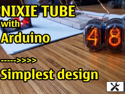 Nixie tube with Arduino || Simplest design with Opto