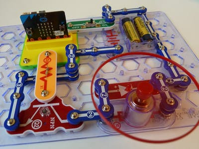 Snap:bit - Control DC Motor with Micro:bit and Transistor