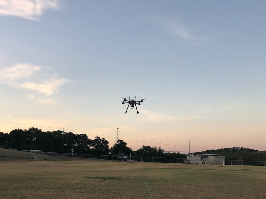 Fire Fight with Smart Drone