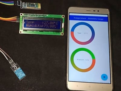 Temp & Humidity DHT11, Weather monitoring in Mobile App