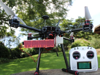 Air To Ground Display: Drone mounted ground visible display
