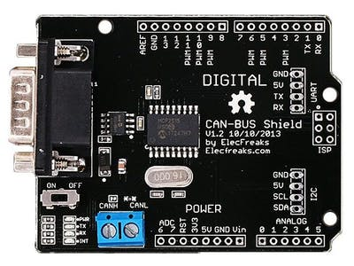 ElecFreaks CAN Bus Shield Interface with Arduino