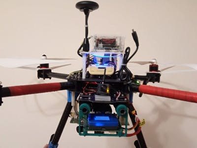 A video warning HoverGames drone to fight with the fire