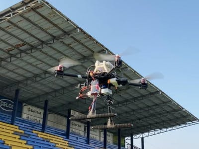 Galileo Aid Drone - For rescue assist and wild fire combat