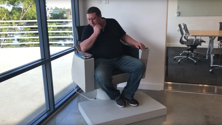 Rex S David Garcia Engages With A Raspberry Pi Google Assistant Powered Star Trek Captain S Chair Hackster Io