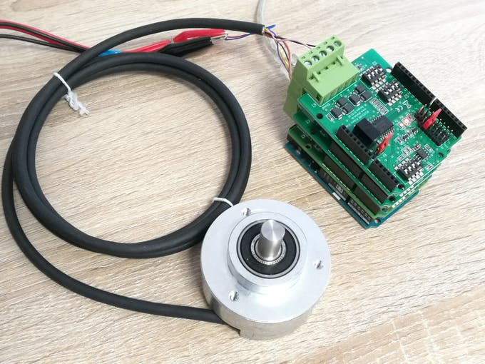DFS30 connected to the Arduino