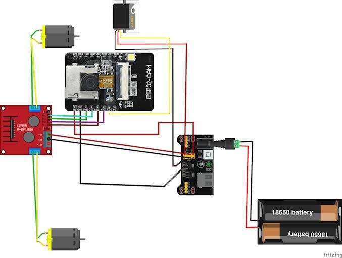 Video Surveillance Robot Schematic