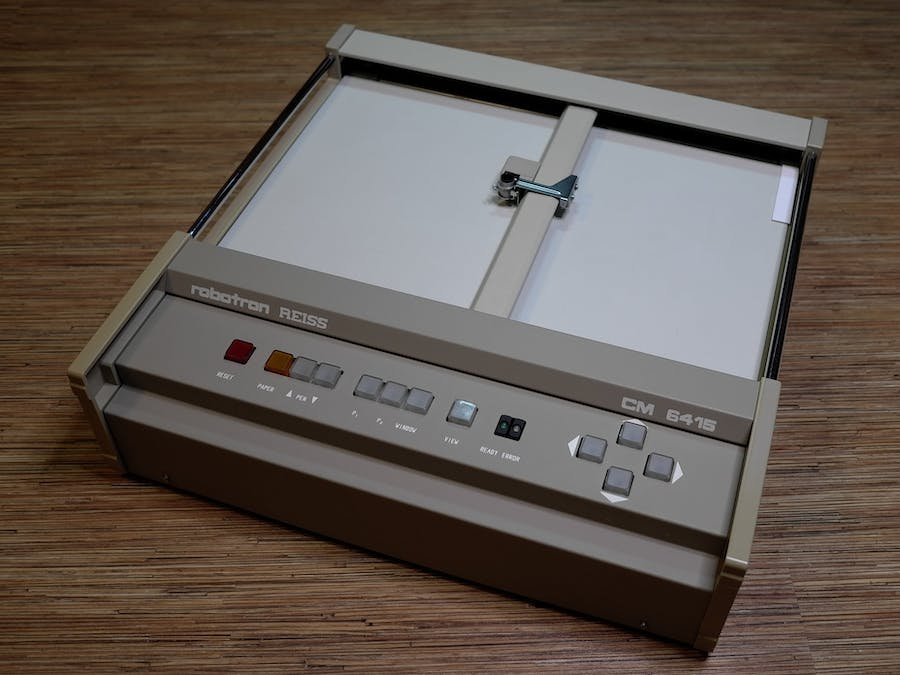 1998' Robotron plotter renovation, part 2