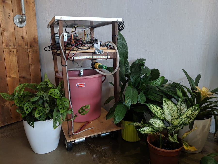 The Irrigator: AI-powered irrigation robot