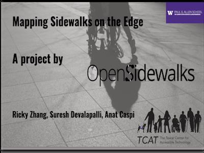 Sidewalk Mapping on The Edge