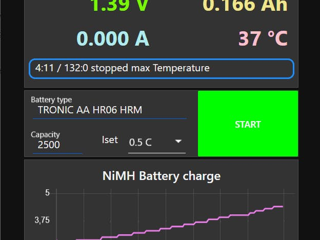 NiMH battery charge and logger using RD6006