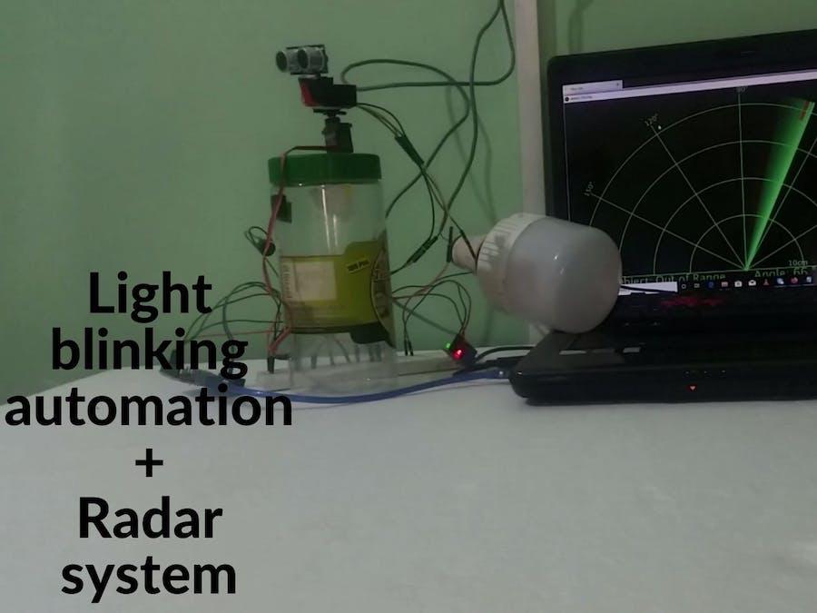 light blinking automation +Radar system
