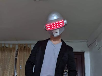 3D Printed Thomas Helmet of Daftpunk
