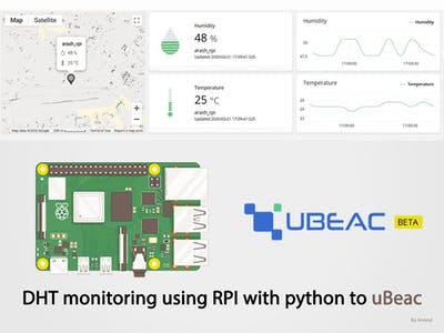 DHT monitoring using RPI with python and HTTP to uBeac
