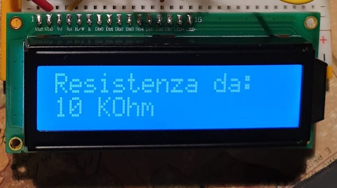 A 16x2 LCD just out of the kit provides the display needs in full