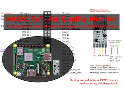 Basic IoT - RaspberryPI CCS811 air quality monitoring