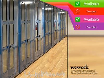 OwnBooth - WeWork Phone Booth Occupancy using KEMET Sensor
