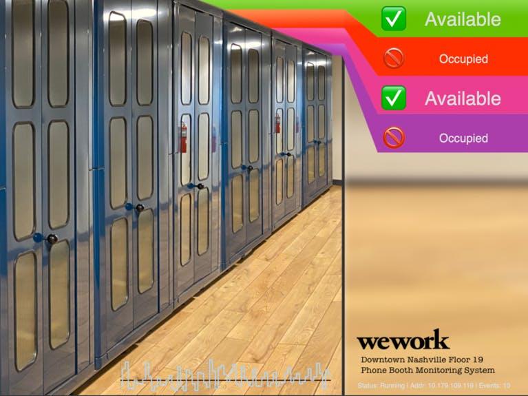 OwnBooth - WeWork Phone Booth Occupancy using KEMET Sensor