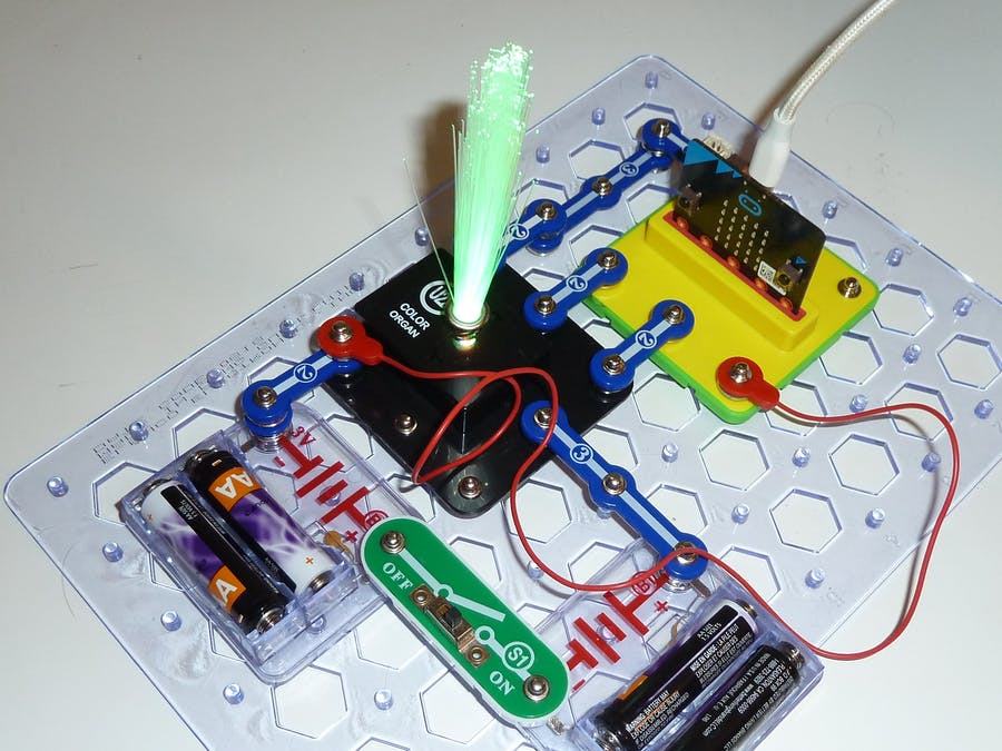 Snap:bit - Program the RGB LED of Color Organ with Micro:bit