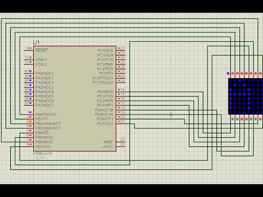 Interfacing Atmega16 Microcontroller With Dot Matrix Display
