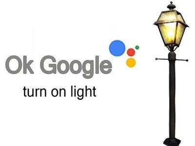 Turn on and off lights with google assistant