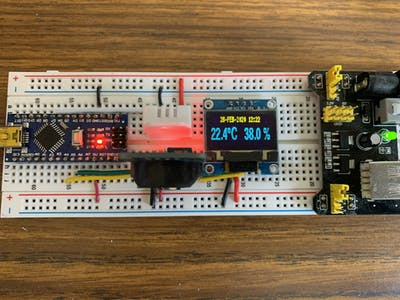 Arduino Nano Using Median Filter to Display DHT22 and RTC