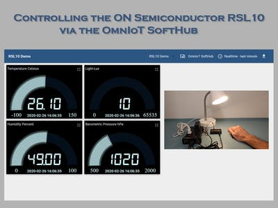 Control the ON Semiconductor RSL10 from the OmnIoT SoftHub