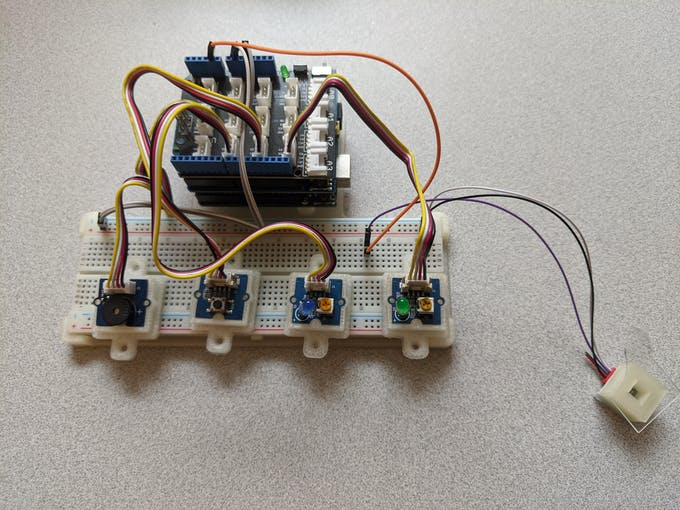 Prototype board attached.