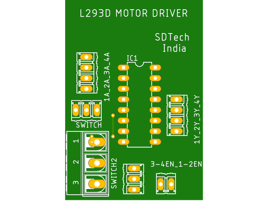 MOTOR Driver L293D FOR DIY ROBOT KITS MADE BY SDTECH ROBOTIC