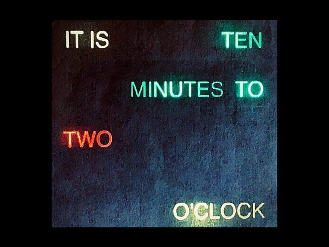 Minimal parts simple word clock
