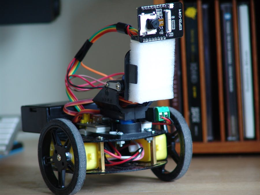 ESP32-CAM Video Surveillance Robot