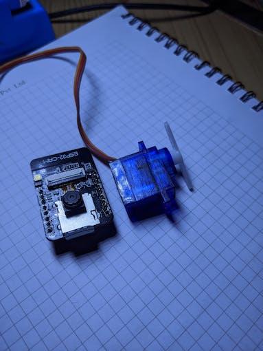 Servo testing with ESP32 Camera