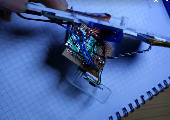 Bottom view  with a boost converter