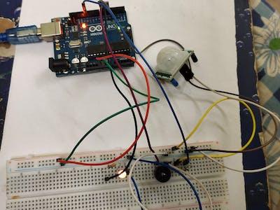 Alert System Using Ardiuno