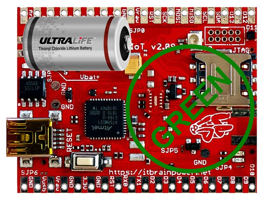 GO GREEN! Battery Powered ARM0 SAMD21G IoT