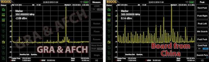 Comparison Our GRA & AFCH DDS9910 Board vs China board