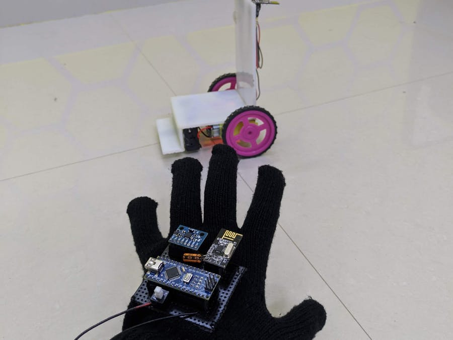 Hand gesture control wheelchair for disabled people