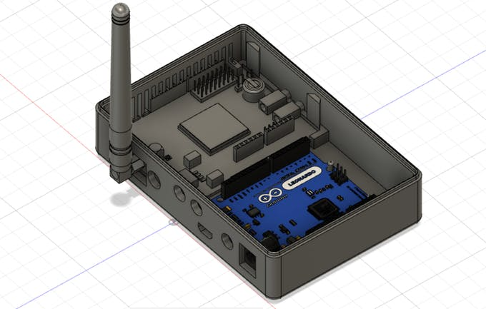 Casing - bottom. With cutouts for all connectors.