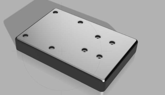 Top casing - with mounting holes.