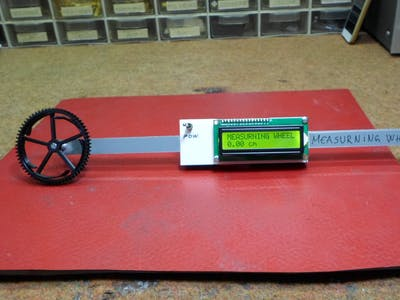 DIY Simple Measuring Wheel with Rotary Encoder