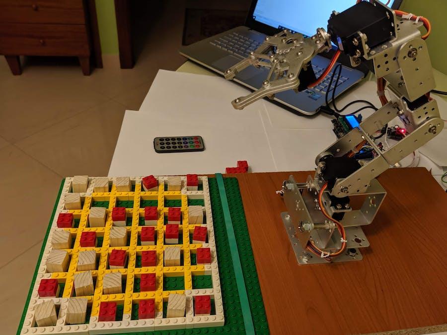 Robotic Arm Plays Connect-Four